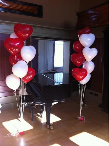 Tafeldecoratie 8ballonnen Hartballonnen