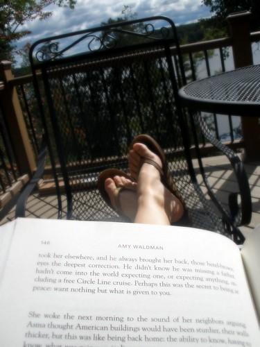 book and lake
