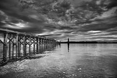 Stilts (bedheadben) Tags: ocean white black pier dock hdr stilts