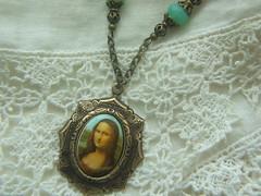 Mona Lisa pendant (lilruby) Tags: necklace mona pendant vintageinspired lilruby lisahandcraftedjewelry