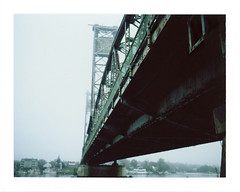 Memorial Bridge (Elizabeth Taylor) Tags: fuji nh portsmouth memorialbridge peelapart konicainstantpress