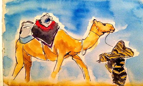 Crossing the Sahara by artbybernadette