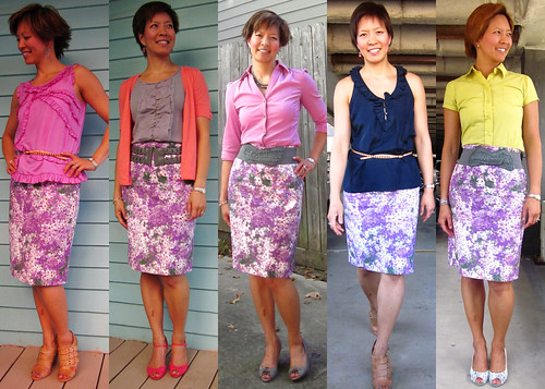 lilac floral pencil skirt 02