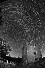 Built to stand the test of time ([Nocturne]) Tags: old nightphotography trees blackandwhite lightpainting castle abandoned stars sandstone paint cheshire wreck nocturne startrails noctography ledlenser wwwnoctographycouk