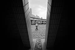 the view between (Brett Elmer) Tags: street urban blackandwhite white black hongkong asia voigtlander epson 15mm rd1s flickraward