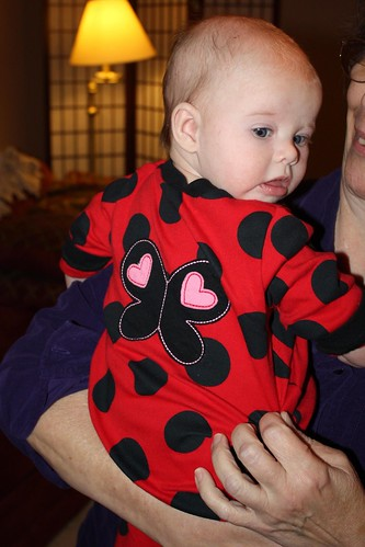 Lucy with ladybug wings