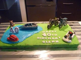 Boys Toys Cake Toppers - The end result