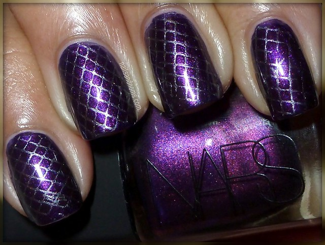 Day 6: (Violet Nails) - Purple Rain by NARS & Avalanche by China Glaze (flash)