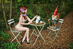 Me And My Little Friend (Ben Heine) Tags: autumn woman sexy green art fall love cup nature mushroom tasse coffee grass leaves childhood project butterfly garden hair season table asian nose photography gnome model friend break play friendship belgium tea dwarf alice finger duo magic workinprogress dream makeup jardin surreal peaceful meeting scene queen fairy papillon together madness breeze wonderland redhair today teatime makingof tale champignon rousse impossible leprechaun mua th nain folie enfance rve chidlhood benheine braives canoneos5dmarkii carolinemadison fairytaleheart22 michaellemarkus meandmylittlefriend