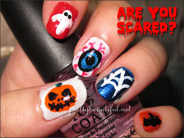 Halloween nail art tutorial complete nails