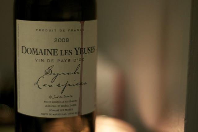 2008 Domaine Les Yeuses Syrah Les Epices Vin de Pays d'Oc