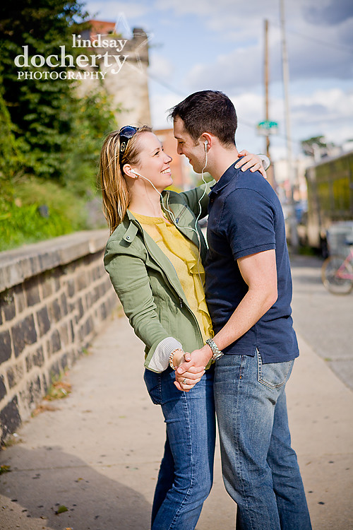 Philadelphia engagement photography session Art Museum