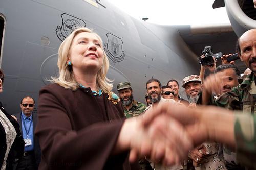 Secretary Clinton Arrives in Tripoli