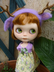........her deer headband!!