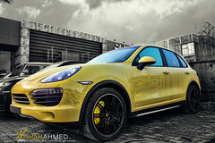PORSCHE (Hesham Ahmed's) Tags: camera cars car speed canon lens eos exposure efs1855mm s cayenne iso porsche saudi arabia mm sec length riyadh ksa focal  2011         550d