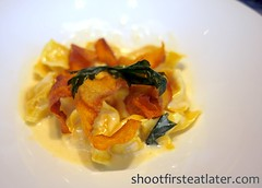 Tosca at the Ritz-Carlton Hong Kong- Homemade Pumpkin Ravioli with Mandarin Mustard  & WalnutsSauce (Shoot First, Eat Later) Tags: hongkong hotel italianfood tallesthotel