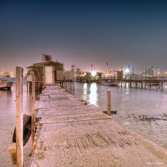 Untitled (heshaaam) Tags: night pier boat bahrain manama muharraq