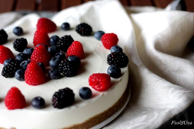 Torta fredda di yogurt