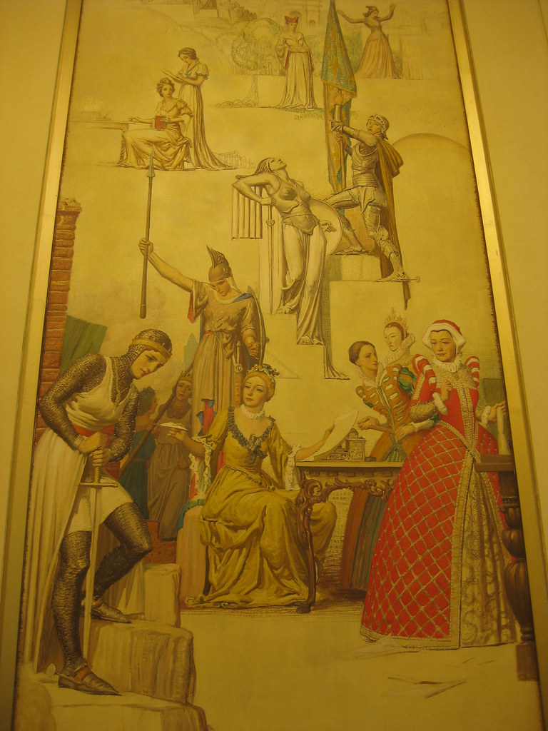 """Pageant of Women Famous in History"" Mural by Napier Waller - Myer Emporium Mural Hall, Bourke Street, Melbourne"