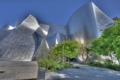 Walt Disney Concert Hall, Los Angeles (Daniel J. Mueller) Tags: california trees usa metal architecture hall los concert angeles gehry disney walt hdr