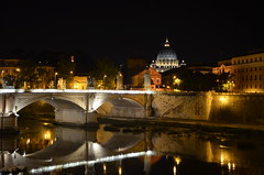 San Pietro night (1) (stex83) Tags: light italy pope vatican rome roma church night reflections italia cathedral vaticano chiesa cupola papa luci piazza sanpietro riflessi notturna notte stpeter cittdelvaticano romebynight ringexcellence blinkagain