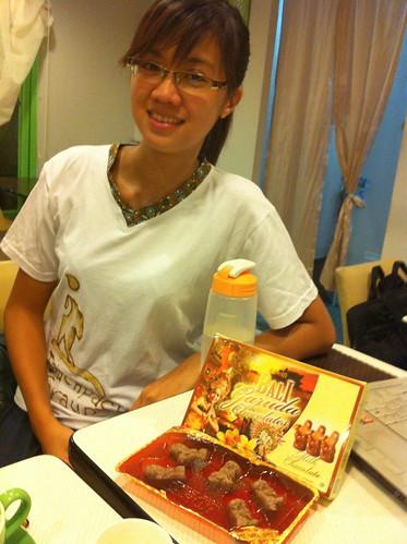 安妮帶回來的峇里島甜滋滋巧克力