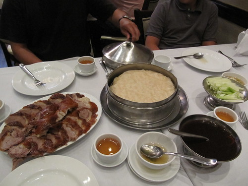 Peking duck dinner