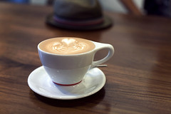(216/358) (epiøne) Tags: intellegentsia coffee best ive ever had mocha espresso milk froth dark delicious bold smooth design wood brown dof epione phtography bryant scannell 50 14 canon 5d day life what its like be me chicago illinois