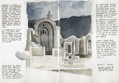 Cazorla, ruins of Sta. Mara (Luis_Ruiz) Tags: church architecture night sketch drawing ruin iglesia dibujo cazorla urbansketchers