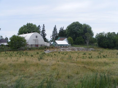 Riverside dairy farm