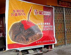 Pigmeat Pigface (cowyeow) Tags: china food strange sign shop asian bathroom pig weird store funny asia rice head chinesefood dumb spam chinese bad nuts meat wrong pork odd gross guangdong badsign stupid stickyrice mold wtf jello sick misspelled funnysign greasy weirdfood shantou misspell pigface chenghai glutinous exoticfood funnychina wrongsign