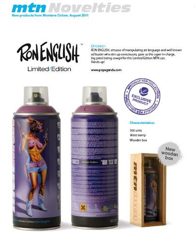 ron english tilt limited edition mtn MONTANA cans