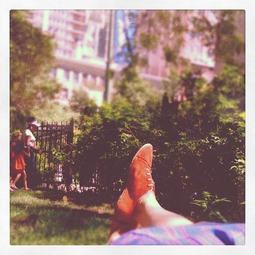 Lunch break in the park