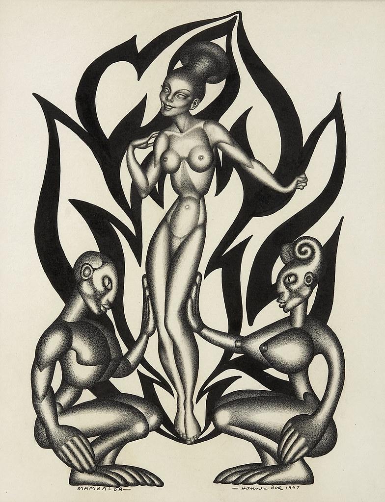 Hannes Bok - Mambaloa, 1947