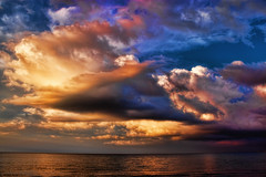 Shore clouds (Theophilos) Tags: sea sky clouds shore crete rethymno