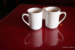 Tea for two (EighteenPercentGray) Tags: trip family light red vacation usa white holiday cold color art love cup canon season fun photography is photo couple heart tea photos joy hobby 7d noon usm efs f28 1755mm canonefs1755mmf28isusm