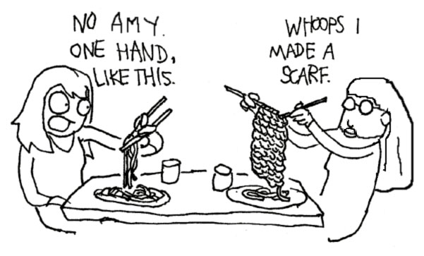 amy knit noodles