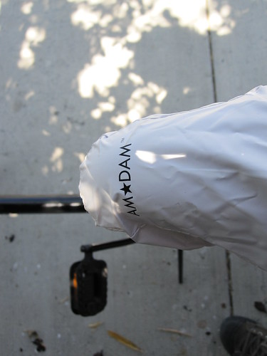 Amxdam seat cover on omafiets at Flying Pigeon LA bike shop
