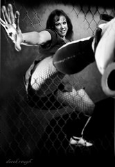 prdr (derek raugh) Tags: portrait bw white black roller derby