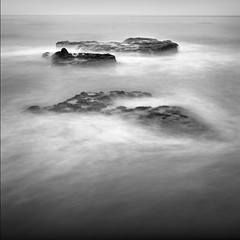 Campus Point Rock Study (Mike Roslek) Tags: ocean california sea bw santabarbara square rocks minimal ucsd goleta campuspoint nd110