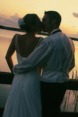 end of the day (Haley Redshaw) Tags: wedding sunset portrait people lake cute love nature water beautiful smile up loving portraits fun landscapes photo interesting kiss kissing holidays moments close florida scene romance edit gentle