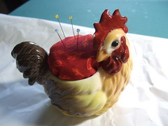 Rooster Pincushion