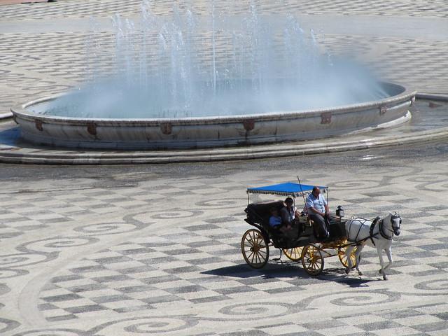 Plaza de Espana Seville horse carriage