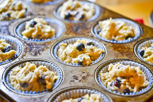 Banana Blueberry Muffins 14