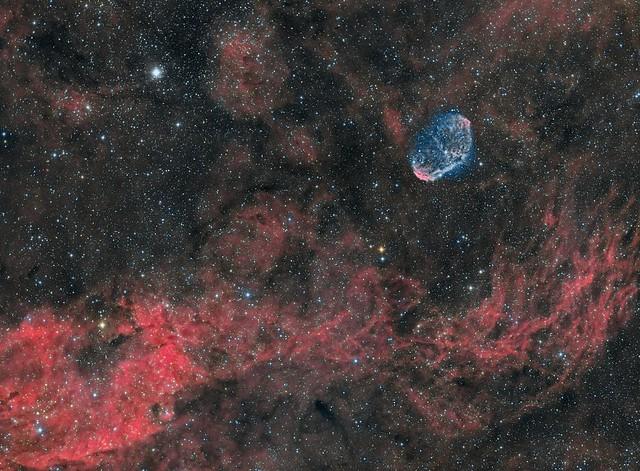 NGC6888- Crescent Nebula (HaRGB+OIII)