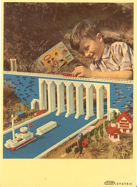 c. 1960 Lego advertising postcard