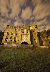 Gwrych Castle ([Nocturne]) Tags: nightphotography summer lightpainting castle abandoned wales decay nocturne gwrychcastle noctography didyouseethejoke