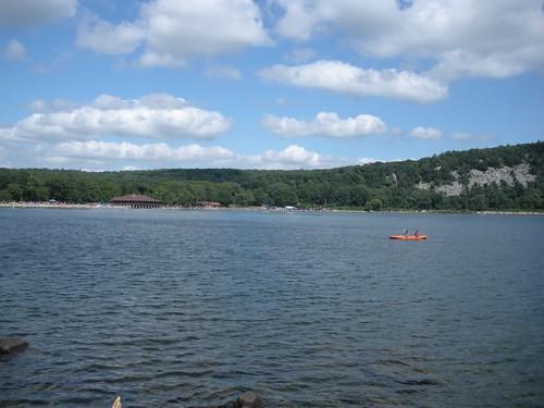 lake + canoe