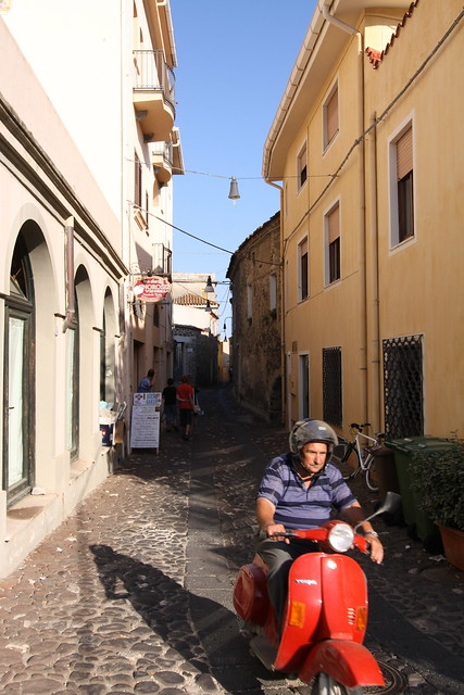 The Scooter Man in Orosei.