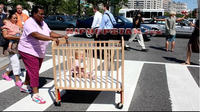 Black-Woman-Carriage-White-Baby